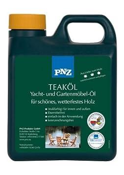 Pnz Yacht- Und Gartenmöbel Öl, Gebinde:2.5 Liter, Farbe:teak ... Gartenmobel Teakholz Teakol