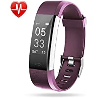 Lintelek Fitness Tracker, Large OLED Touch Screen Activity Tracker with Heart Rate Monitor, Sleep Monitor, Connected GPS function and Multiple Sports Modes, IP67 Waterproof Pedometer Wristband