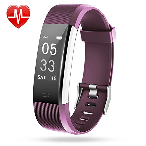 Fitness Tracker, Lintelek Large OLED Touch Screen Activity Tracker with Heart Rate Monitor, Sleep Monitor, Connected GPS function and Multiple Sports Modes, IP67 Waterproof Bluetooth Pedometer Wristband for iOS Android Smartphone
