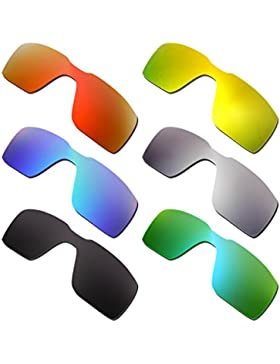 Hkuco Plus Mens Replacement Lenses For Oakley Probation Red/Blue/Black/24K Gold/Titanium/Emerald Green Sunglasses