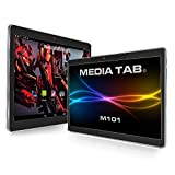 MediaTab M101S1 10 Zoll Tablet PC 3G Dual SIM GPS Android 7.0 64GB Quad-Core 2GB RAM HD IPS Display 1280 x 800 Kamera (inkl. Tastatur / Tasche, Schwarz)