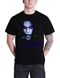 Marilyn Manson T Shirt Over Saturated Photo Official Mens Black New