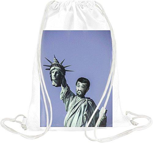 Statue Of Liberty Mahmoud Ahmadinejad Drawstring bag