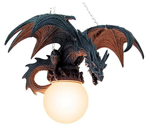 Hängelampe Drache im Flug eine Drachenlampe groß und beeindruckend