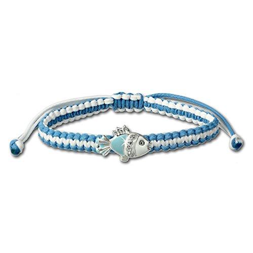SterlinX - Armband für Kinder mit einem Fisch - hellblau - aus 925er Sterling Silber D1SDA8001H (Niedliche Halloween Outfits Teenager)