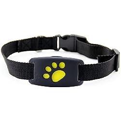 Mini GPS traceur - Dispositif de suivi intelligent anti-perte pour chiens, chats - Localisateur - Imperméable / alarme / traceur en temps réel / moniteur vocal / compatible avec barrière de sécurité - Pour iOS/Android