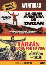 La plus grande aventure de Tarzan + Le combat mortel de Tarzan / Tarzan's Greatest Adventure + Tarzan's Fight For Life (2 DVD) [ Origine Espagnole, Sans Langue Francaise ]