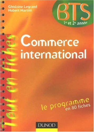 Commerce international BTS 1re et 2e annes