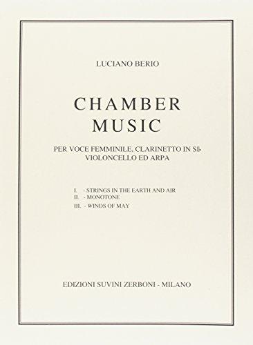 Chamber Music (1953) Per Voce Femminile, Clarinetto, Violoncello e Arpa Su Poesie di James