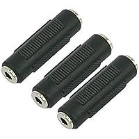 Ogquaton 3 Piezas Acoplador de Audio estéreo de 3.5 mm Hembra a Hembra Enchufe portátil y útil