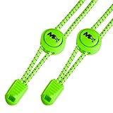 Master Laces - Elastische Schnürsenkel mit Schnellverschluss 120cm- optimal für Sport, Kinder, Sneaker und Wandern - einfaches System für Komfort - Schnellschnürsystem Lock (Neon Grün)