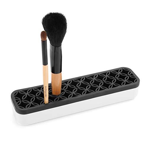 Silicone Maquillage Brush Holder Case Portable Cosmétique Brosse Présentoir Brillant À Lèvres Rouge À Lèvres Organisateur Boîte De Rangement Vie morte