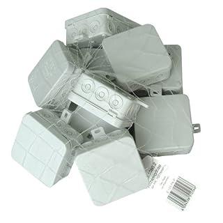Kopp 352810502 Abzweigdose Aufputz-Feuchtraum, mit 5-poliger Klemmleiste, IP 54, 75 x 75 x 40 mm, Profi-Pack: 10-Stück