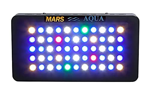 MarsAqua 165w Dimmable LED Aquarium Light Lighting Fixture for Fish Tank Reef Coral Marine Aquarium Suitable for Saltwater Led 55x3w