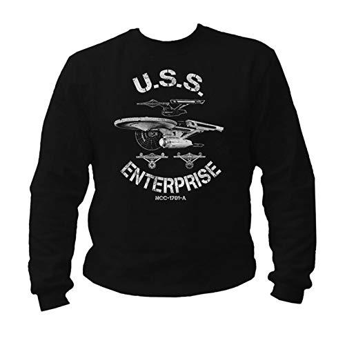 USS Enterprise Star Trek Vintage Sweatshirt ()