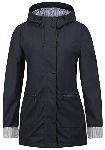 DESIRES Becky Damen Regenjacke Regenmantel Übergangsjacke Mantel mit Kapuze, Größe:L, Farbe:Insignia Blue (1991)