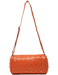 TYPIFY® Leatherette PU Designer Cross Body Studded Cylindrical Shaped Sling Bag For Women And Girls College Office...