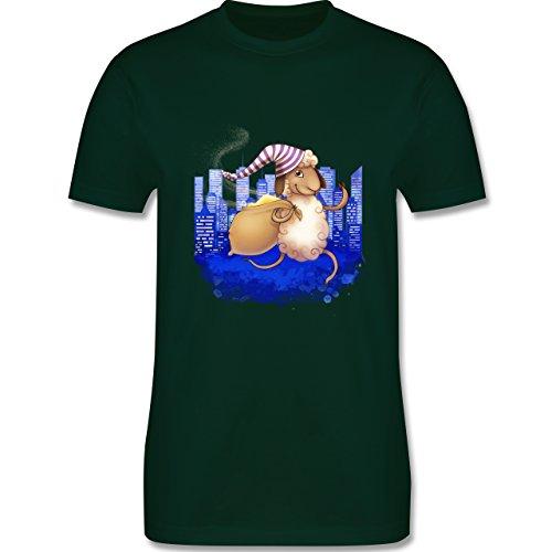 Sonstige Tiere - Schlafi Schaf - Herren Premium T-Shirt Dunkelgrün