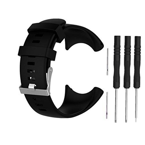 Meiruo Armband für Suunto Core All Black, Ersatz-Armband für Suunto Core All Black (Schwarz)