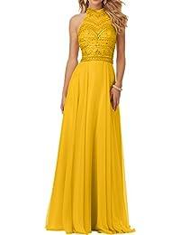 Gelbe abendkleider lang