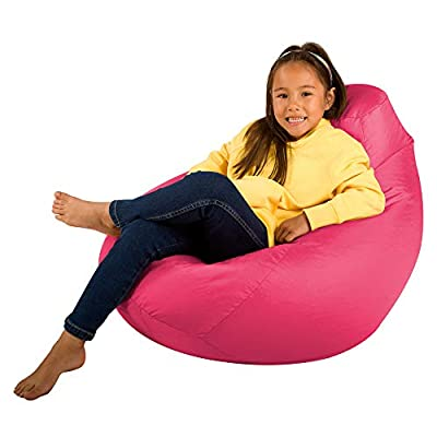 Bean Bag Bazaar Kids Gaming Chair - Large, 80cm x 70cm - Childrens Indoor Outdoor BeanBag (Pink, 2)