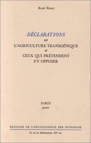 Déclarations sur agriculture transgénique