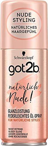 got2b Öl-Spray natürlich Nude Glanz Leistung, 6er Pack