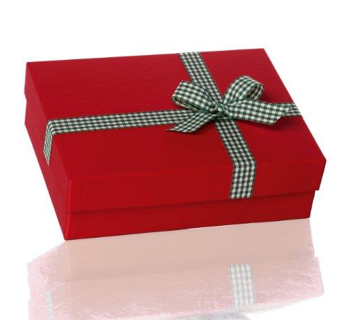 Rössler 1348319000 - Kartonage mit Schleife, Größe: 19.5 x 26.5 x 8 cm, rot