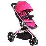 RUMIAO Dreirad Kinderdreirad Baby\Kleinkinder Für Jungen Und Mädchen Ab 0 Monate -3 Jahre, Dreirädrige Hohe Landschaft des Babys Warenkorb, Verstellbarer Rückenwinkel,Pink