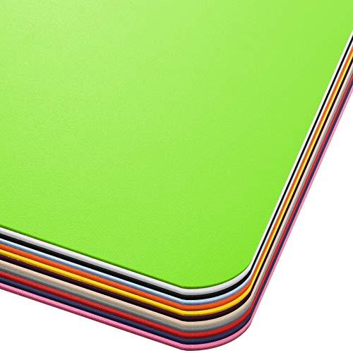 Office Marshal® Bodenschutzmatte in Trendfarben   75 x 120 cm für Hartböden   ohne schädliche Weichmacher und PVC   Größe und viele Farben zur Auswahl (Hellgrün)
