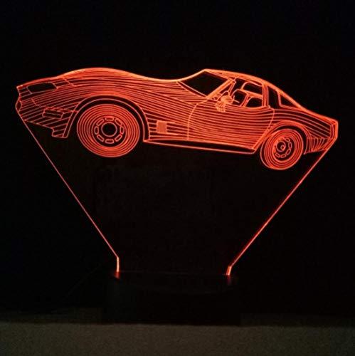SFALHX Cool Racing Car 7 Farbwechsel 3D Lampe Fernberührungsschalter USB LED 3D Nachtlicht Bluetooth Lautsprecher Basis Kreative Geschenke