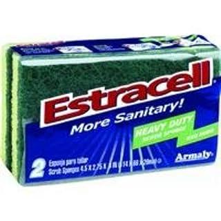 Armaly Brands Brillo Estracell Heavy Duty Scrub Sponge, 2-Count