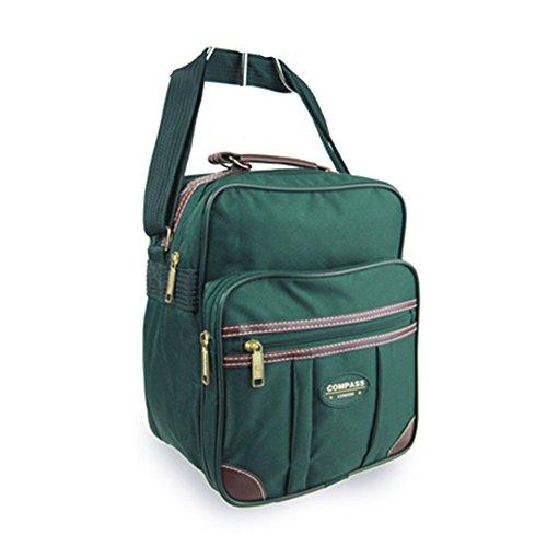 Fashion Essentials-Flight Tasche mit braunen PU Trimmweg Fracht Holdall Duffle Bag (deep green) deep green
