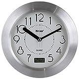 Quarz Badezimmeruhr - Funkuhr - Uhr - Baduhr - mit Saugnapf - Temperaturanzeige Uhr
