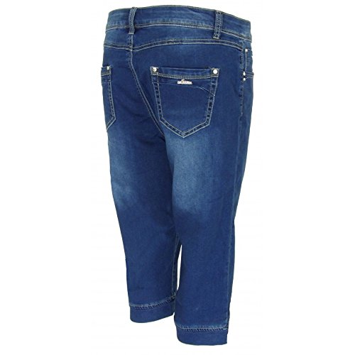 Pantacourt en jeans PC517 Bleu