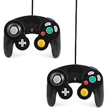 2 x QUMOX filaire classique MANETTE contrôleur JOYPAD GAMEPAD pour NINTENDO GAMECUBE GC & Wii Noir