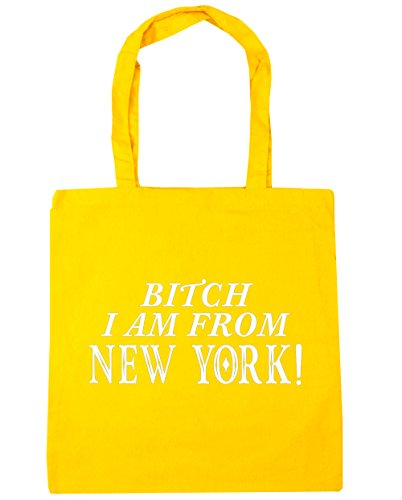 hippowarehouse-bitch-i-am-from-new-york-sac-shopping-gym-sac-de-plage-42-cm-x38-cm-10-litres-jaune-t