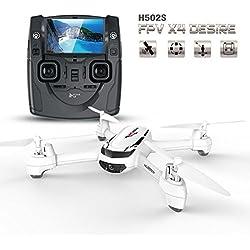 Goolsky Hubsan H502S 5,8 G FPV 720p HD Caméra Drone RC Quadcopter avec GPS Suivez-Moi CF Mode (Mode sans Tête) de Retour Automatique