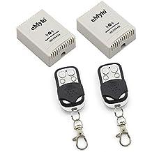 RF 12V un transmisor de transmisor 2x 2canales relés Smart inalámbrico interruptor de control remoto blanco y negro color