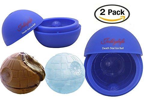 jollylife Silikon Form Eiswürfelform, Ball für Star Wars oder Party Thema 2, Mittel, blau