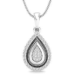 Stylori The Flame 18k White Gold and Diamond Pendant