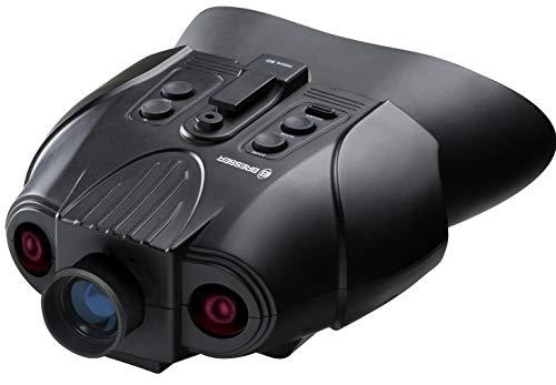 Bresser Digitales Nachtsichtgerät Binokular 3x mit digitaler Zoom-Funktion, zuschaltbarer Infratotbeleuchtung, großem Display, integriertem Akku und Aufnahmefunktion