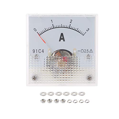 huiouer 91C4 Amperemeter DC Analog Stromzähler Panel Mechanical Pointer Type 1/2/3/5/10/20/30/50/100/200/300/500mA A 3a