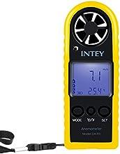 INTEY Anemómetro Digital Medidor De Velocidad Del Viento Y Medidor De Temperatura LCD De Mano Con Pantalla De Retroiluminación