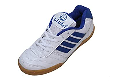 Livia White and Blue Non Marking Sole Sports Shoes (3 India/UK)