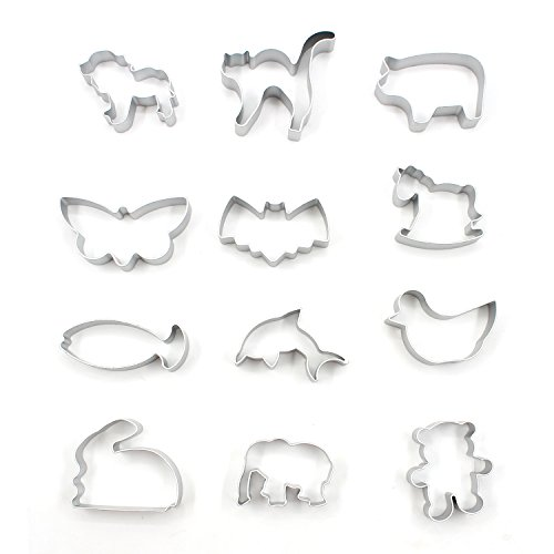 almondcy-12-pcs-different-animals-mold-of-cake-cookie-cutters-moldaluminum-material