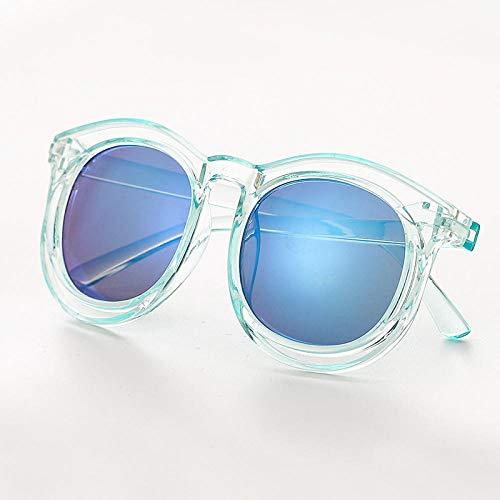 CYCY Kindersonnenbrille sonnenblumenbrille niedliche Baby Sonnenbrille Jungen und mädchen Brille Baby Flut kindersonnenblumenbrille - weiß, transparenter Rahmen blau