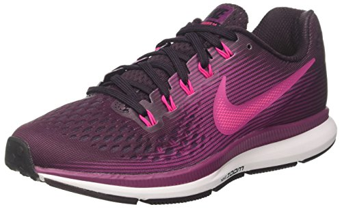 Nike Air Zoom Pegasus 34, Scarpe Running Donna, Multicolore (Port Wine/Deadly Pink/Tea Berry/Black 603), 37.5 EU