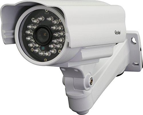 Rollei Überwachungskamera SafetyCam 20 HD - mit Nachtsicht und Bewegungsmelder wetterfest, einfache Montage - weiß