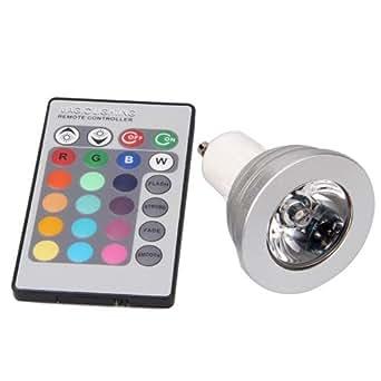 gu10 5w 16 farbwechsel rgb led spot licht light lampe ir fernbedienung beleuchtung. Black Bedroom Furniture Sets. Home Design Ideas